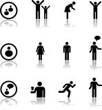 Vastgestelde pictogrammen - 7. Mensen Royalty-vrije Stock Foto's
