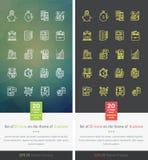 Vastgestelde Pictogrammen op het Thema van Succeszaken vector illustratie