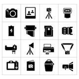 Vastgestelde pictogrammen van foto Stock Fotografie