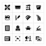 Vastgestelde pictogrammen van het schermdruk vector illustratie