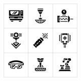 Vastgestelde pictogrammen van laser royalty-vrije illustratie