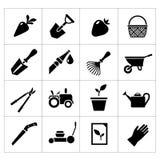 Vastgestelde pictogrammen van tuin Royalty-vrije Stock Afbeeldingen