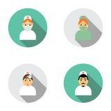 Vastgestelde pictogrammenkarakters voor geneeskunde, vlak ontwerp Stock Foto's