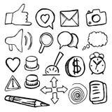 Vastgestelde pictogrammenknopen op witte achtergrond vector illustratie