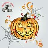 Vastgestelde pompoenen voor Halloween royalty-vrije illustratie
