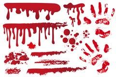 Vastgestelde realistische bloedige stroken Handprint in het bloed royalty-vrije illustratie