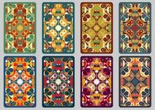Vastgestelde retro kaarten Stock Afbeeldingen