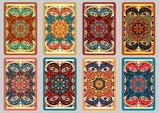 Vastgestelde retro kaarten Stock Foto