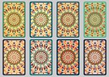 Vastgestelde retro kaarten Stock Foto's
