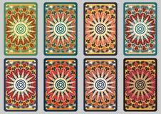Vastgestelde retro kaarten Royalty-vrije Stock Foto's