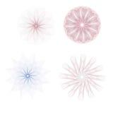 Vastgestelde rozet Kleurrijke watermerken Royalty-vrije Stock Afbeelding