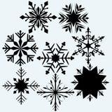 Vastgestelde sneeuwvlok Royalty-vrije Stock Foto's