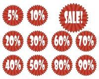 Vastgestelde stickers voor verkoop Stock Afbeeldingen
