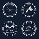 Vastgestelde tatoegeringsemblemen van verschillende stijlen Royalty-vrije Stock Afbeelding