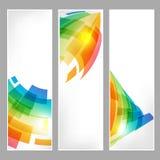 Vastgestelde technologie-banners met abstract bedrijfssymbool Royalty-vrije Stock Foto's