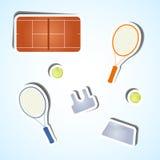 Vastgestelde tennispictogrammen Royalty-vrije Stock Afbeelding