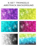 6 VASTGESTELDE Trianggle abstrack achtergrond-09 Stock Foto's