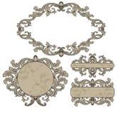 Vastgestelde uitstekende frames Royalty-vrije Stock Foto