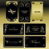 Vastgestelde uitstekende gouden kaart Stock Foto