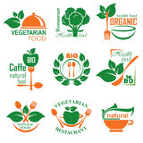 Gezond voedseletiket Royalty-vrije Stock Foto