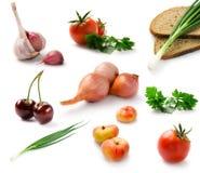 Vastgestelde verse groenten Royalty-vrije Stock Fotografie
