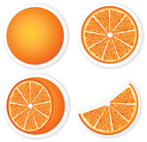 Vastgestelde verse sinaasappel Stock Foto's