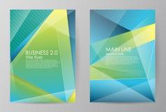 Vastgestelde verticale horizontaal van brochures in moderne abstracte stijl Vectorontwerpmalplaatjes Abstracte cijfersbrochures Royalty-vrije Stock Fotografie