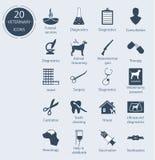 Vastgestelde veterinaire pictogrammen Aantal - 20 Stock Fotografie