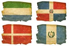 Vastgestelde Vlaggen oude # 23 Stock Foto's