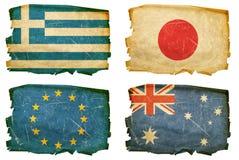 Vastgestelde Vlaggen oude #3 Stock Foto