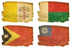 Vastgestelde Vlaggen oude # 33 Stock Afbeelding