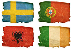 Vastgestelde Vlaggen oude #4 Royalty-vrije Stock Fotografie