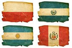 Vastgestelde Vlaggen oude # 8 Stock Afbeelding