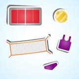 Vastgestelde volleyballpictogrammen Stock Foto