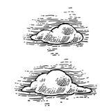 Vastgestelde vorm van wolken royalty-vrije illustratie