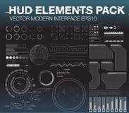 Vastgestelde Webelementen in HUD-stijl De elementen van Infographic futuristisch gebruikersinterface HUD UI UX Royalty-vrije Stock Foto's