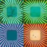 Vastgestelde Wijnoogst Gekleurde Stralenachtergrond EPS10 Vector Royalty-vrije Stock Afbeelding