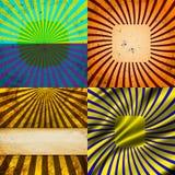 Vastgestelde Wijnoogst Gekleurde Stralenachtergrond EPS10 Vector Stock Afbeelding
