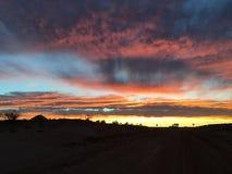 Vastgestelde wolken van de Coober de pedy zon Royalty-vrije Stock Afbeeldingen