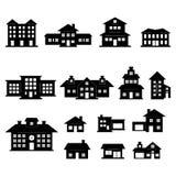 De reeks van het huis vector illustratie