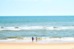 Vastness of the ocean. Insignificance of people against the ocean Stock Photography