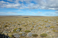 Vastness of Patagonia. Typical view of vast endless expanse of Patagonia, Argentina Royalty Free Stock Photo