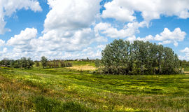 The vastness of the Russian steppe of mother earth. Journey through Europe and the vast land Stock Images