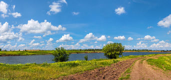 The vastness of the Russian steppe of mother earth Royalty Free Stock Photo