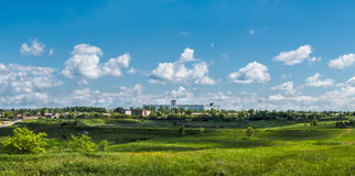The vastness of the Russian steppe of mother earth. Journey through Europe and the vast land Royalty Free Stock Image