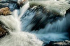Vasto fiume che attraversa foresta boscosa immagine stock libera da diritti