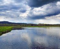 Vasto fiume Vltava fotografia stock