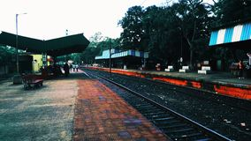 Vasto modo della ferrovia fotografia stock