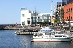 Wester Harbor Malmo Sweden. Vastra Hamnen area of Malmo Sweden is an urban renewal project with cutting edge modern architecture and a focus on sustainable Royalty Free Stock Images
