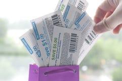 Vastspijkerende coupon royalty-vrije stock afbeelding